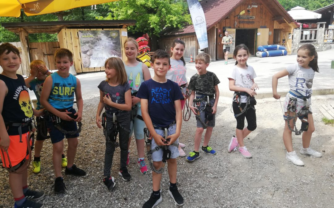 Tretješolci v adrenalinskem parku