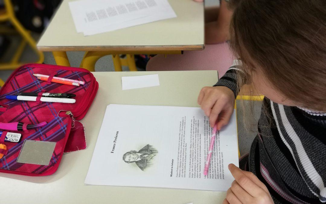 Kulturni dan 4. razreda ob Prešernovem dnevu